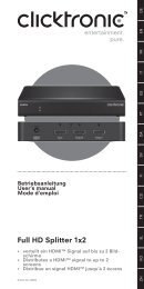 Full HD Splitter 1x2 - Wentronic