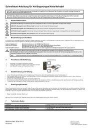Schnellstart-Anleitung für Verlängerungen/Verteilerkabel - Wentronic