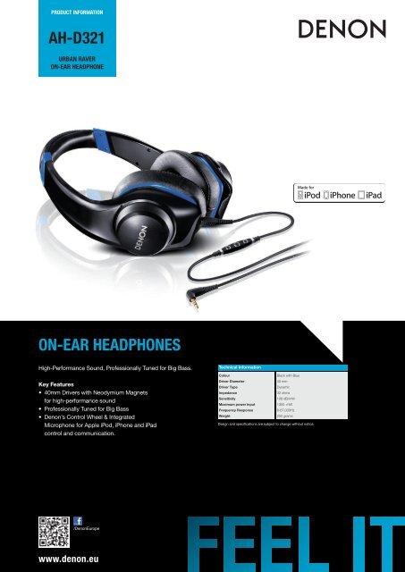 AH-D321 ON-EAR HEADPHONES - RMS.pl
