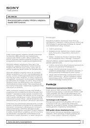 Sony : Informacje o produktach : VPL-EW130 (VPLEW130 ... - RMS.pl