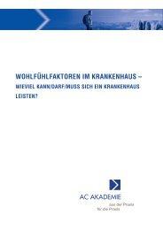 WOHLFÜHLFAKTOREN IM KRANKENHAUS - Andree Consult Gmbh