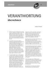 Verantwortung übernehmen - Wörnersberger Anker