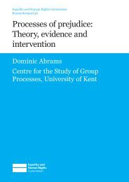 Processes of prejudice: Theory, evidence and intervention
