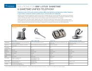 solutions for ibm® lotus® sametime® & sametime unified telephony