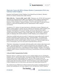 Plantronics Teams with IBM to Enhance Business Communication ...