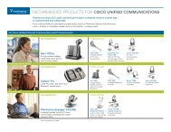 recommended products for cisco unified communications