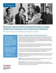 Plantronics Named Preferred Headset Provider for Avaya™ Unified ...