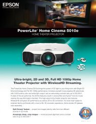 PowerLite® Home Cinema 5010e - One Call