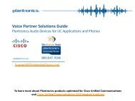 Voice Partner Solutions Guide - TheHeadsetTeam