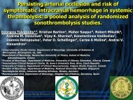 Persisting arterial occlusion and risk of symptomatic intracranial ...
