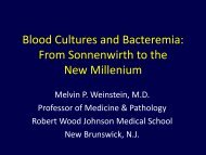 Blood Cultures and Bacteremia: From Sonnenwirth to the New ...