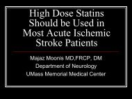High Dose Statins Should be Used in Most Acute Ischemic Stroke