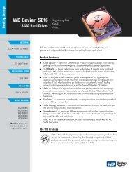 WD Caviar SE16 SATA Hard Drives Specification ... - Newegg.com