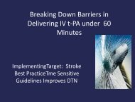 Breaking Down Barriers in Delivering IV t-PA under 60 Minutes