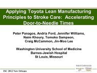 Applying Toyota Lean Manufacturing Principles to Stroke Care ...