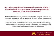 Are coil compaction and aneurysmal growth two distinct etiologies ...