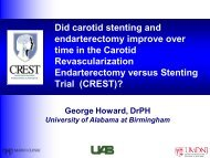 Did carotid stenting and endarterectomy improve over time in the ...