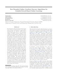 Fast Bounded Online Gradient Descent Algorithms ... - ICML