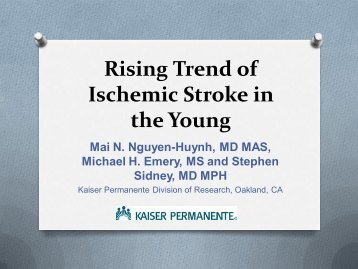 Rising Trend of Ischemic Stroke in the Young