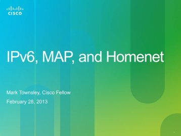 IPv6, MAP, and Homenet - Proidea