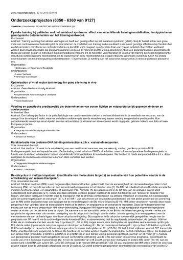 Onderzoeksprojecten (6350 - 6360 van 9127)