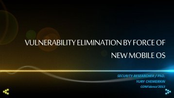 vulnerability elimination by force of new mobile os - Proidea