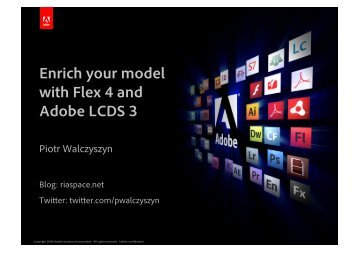 Enrich your model with Flex 4 and Adobe LCDS 3 - Proidea