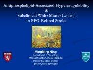 Antiphospholipid-Associated Hypercoagulability & Subclinical White ...