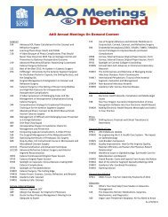 AAO Annual Meetings On Demand Content