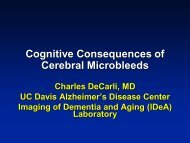 Cognitive Consequences of Cerebral Microbleeds