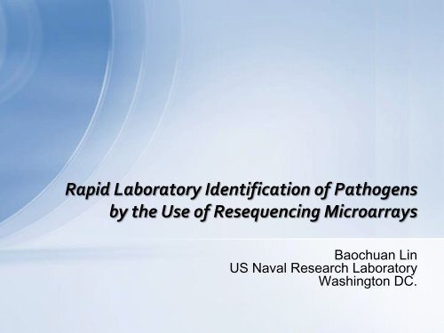 Resequencing Microarray ...