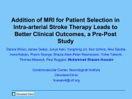Addition of MRI for Patient Selection in Intra-arterial Stroke Therapy ...