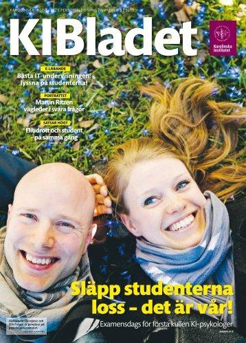 Läs KI Bladet nr 3, 2012 som pdf - Karolinska Institutet