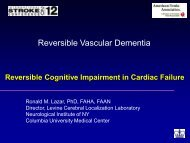 Reversible Cognitive Impairment in Cardiac Failure