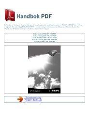 Bruker manual PHILIPS 21PT5409 - HANDBOK PDF