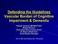 Vascular Contributions to Cognitive Impairment & Dementia