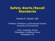 Safety Alerts/Recall Standards