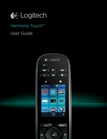 Harmony Touch™ User Guide - Logitech