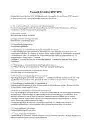 Protokoll Årsmöte i SFSF 2012