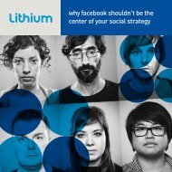 why facebook shouldn't be the center of your social strategy - Lithium