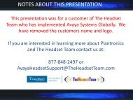 notes about this presentation - ABC Company Corporate Headset ...