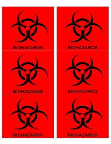 Biohazard and Hazardous Waste labels