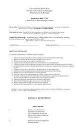 Ejercicios de laboratorio - Biología - Recinto Universitario de ...