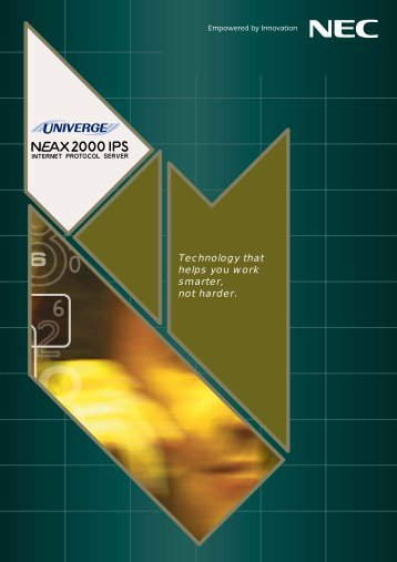 NEAX2000 IPS Brochure - NEC Philippines, Inc.