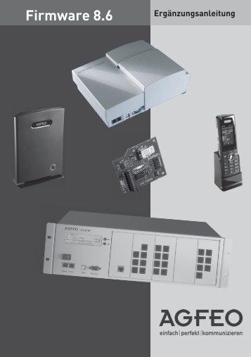 Firmware 8.6 - Agfeo