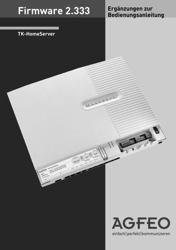 Firmware 2.333 - Agfeo