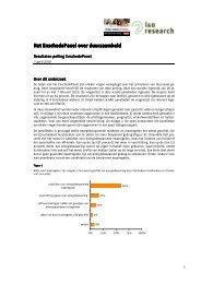 Peiling duurzaamheid: resultaten