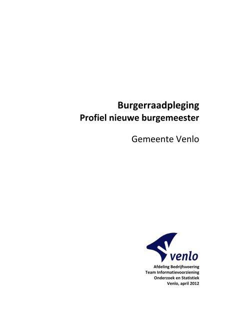 Microsoft Word - Rapportage enqu\352te ... - Gemeente Venlo