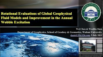 Rotational evaluations of global geophysical fluid models ...