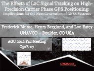 The effects of L2C Signal tracking on high-precision carrier phase ...